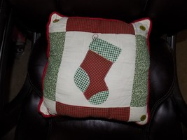 Xmas Christmas Stocking Pillow EUC - $15.20