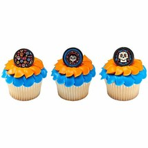 24 CoCo Family Day of the Dead Cupcake Rings Toppers - $12.86