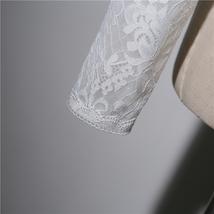 Long Sleeve Wedding Lace Cover Ups Retro Style Lace Bridal Boleros, white, plus image 5