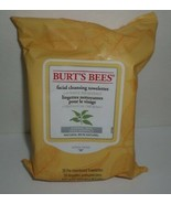 Burt's Bees Facial Cleansing Towelettes White Tea Extract Normal Skin 30... - $12.19