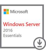 Windows Server 2016 Essentials Version   OFFICIAL   Lifetime Edition - $28.99