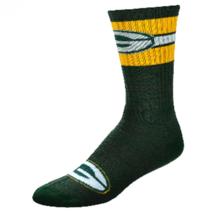 New Genuine Nfl Team Apparel Mens Lg Crew Socks Green Bay Packers Free S&H - $9.89