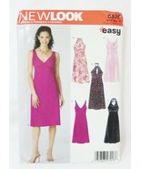 Simplicity New look dresses sewing pattern 6375 project runway size A 6-16 - $8.68