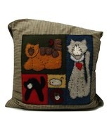 Hand Made Cat  Pillow  - £17.95 GBP