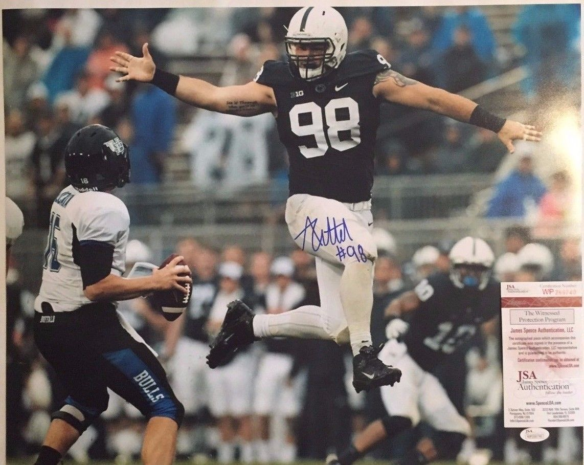 Primary image for Anthony Zettel Penn State Nittany Lions Autographed 16x20 Photo JSA Witness COA