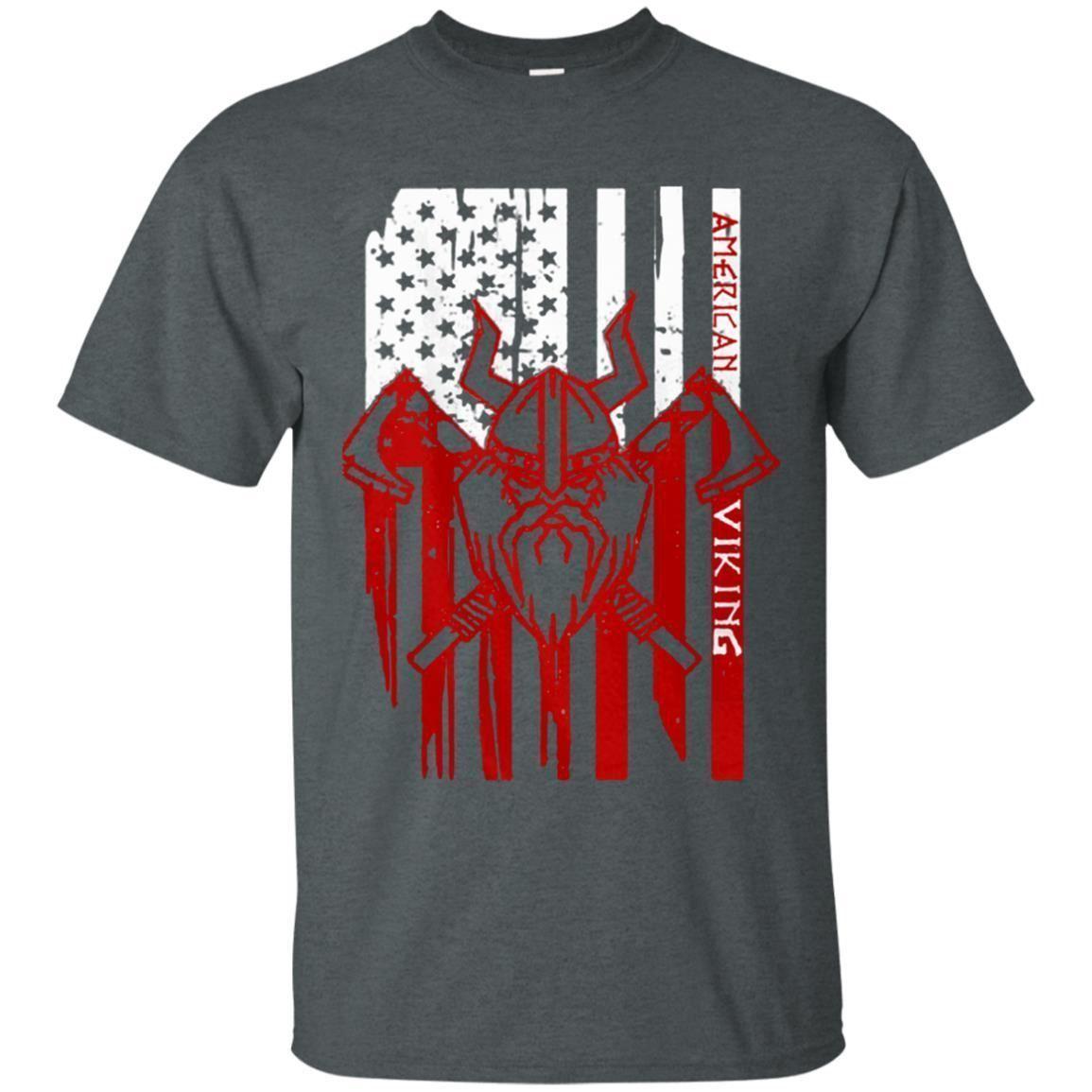 Comfy American Viking - Victory Or Valhalla 2 Unisex Tee TShirt