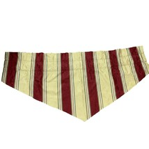 Waverly Striped Curtain Ascot Valance Lined Gold Green Maroon Lot of 3 - $44.55