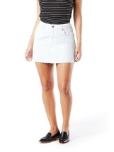 Levi Strauss Women's High Rise A Line Jean Skirt Size 12 White Color NEW - $21.77