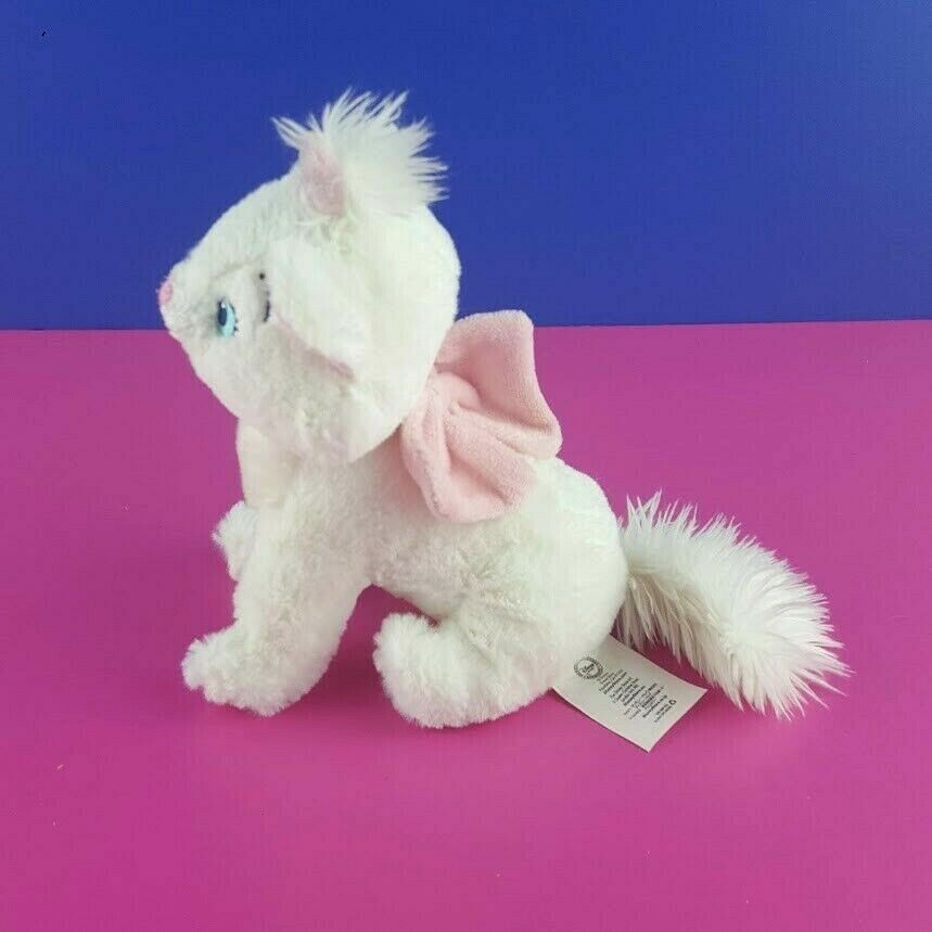 "Disney Store Aristocats Plush Marie Sitting White Kitten Cat Stuffed Animal 7"" image 2"