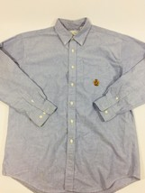 American Eagle Outfitters Mens Size L Blue Button Down Box Pleat Dress ... - $11.02