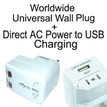 Worldwide Travel Power AC to USB Travel Adapter Plug Universial Converter - $11.75