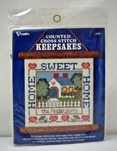 Vogart Home Sweet Home Personalized Counted Cross Stitch Keepsakes Kit -... - $9.45