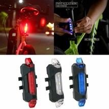 Bicycle Light Waterproof Rear Tail Light LED USB Rechargeable Mountain Bike - $9.31+