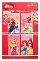 DISNEY PRINCESS* 32 Valentines Day Cards + Stickers+ Teacher Card HALLMA... - $4.94