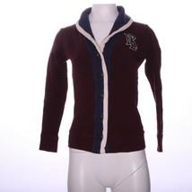 Ralph Lauren Maroon Sweater Button Down S - $18.59