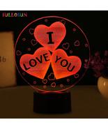 Optical Illusion 3D LED Night Light USB Table Lamp Novelty Love Atmosphe... - $33.74