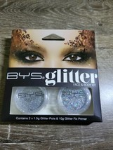 BYS Glitter Face and Body Kit with Primer - Silver - $7.87