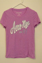 Womens Aeropostale Lilac and White Cap Sleeve T Shirt Size L - $6.95