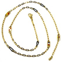 18K YELLOW GOLD CHAIN NECKLACE OVAL LINK 2 MM, 20 INCHES, NAUTICAL ENAME... - $1,341.30