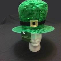 St Patricks Day Green JUMBO SEQUIN LEPRECHAUN TOP HAT Adult Costume Acce... - £6.81 GBP