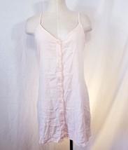 Forever 21 Womens A30 Button down shift Woven Dress Pink Cotton M Medium - $15.90