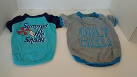 Dog T-Shirts Lot of 2 Size Medium Color Blue, VG - $6.99