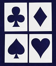 Playing Card Suits - 4 Piece Stencil Set - 8 X 10 Inches - $24.79