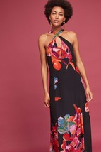 NWT ANTHROPOLOGIE CAYMAN SILK FLORAL MAXI DRESS by MAEVE S, M - $93.49