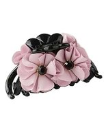 [D] Pretty Flower Fabric Hair Claws Hair Barrettes Claw Clips - $14.28