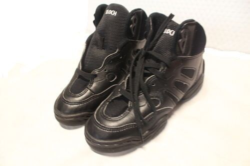 Bloch SO500L Adult's 7.5 (fits 6.5) Black Leather Mid Top Split Sole Sneakers