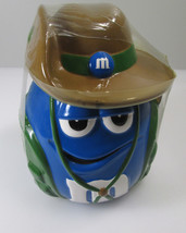 ESTATE SALE Blue M&M Character Cookie Jar Outback Aussie Safari Candy Co... - $18.95