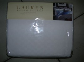 "RALPH LAUREN' 'JERMYN STREET/GLEN PLAID"" MATELASSE BED BLANKET WHITE NIP... - $155.87"