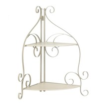Shelf Bathroom, Scrollwork Display Storage Corner Living Room Shelf, Iron - $47.79