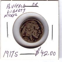1917 S BUFFALO NICKEL - $19.80