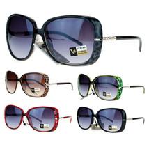 VG Eyewear Womens Jewel Rod Temple Celebrity Oversize Butterfly Sunglasses - £7.13 GBP