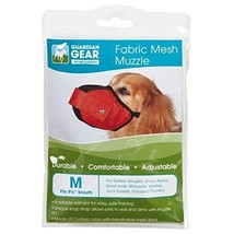 Guardian Gear Fabric MESH Dog MUZZLES Comfortable Soft Red Muzzle for Do... - $21.23