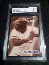 1996 Fleer SI Joe Morgan GMA Graded 7 NM Legends Baseball 22 - $7.75