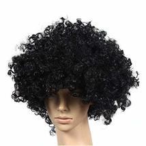 PANDA SUPERSTORE Set of 2 Halloween Costume Party Wigs Clown Hair, Black