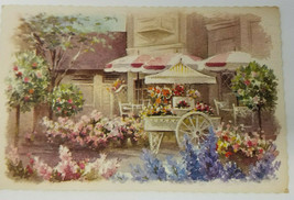 Vintage Unposted Hallmark Disneyland Little Flower Market Main Street Postcard - $18.95