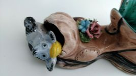 """Capodimonte 10"""" long Old Folley Shoe w/ Mouse In the Toe Made in Italy  image 4"""