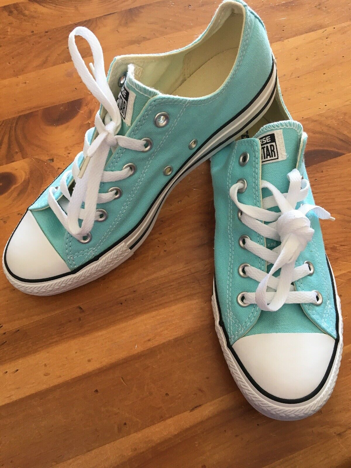 Primary image for Converse All Stars Size 8 Women's 10 NEW NWOB Low Tops TEAL Chuck Taylor shoes
