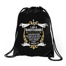 I Am A Sagittarius Drawstring Bags - $30.00