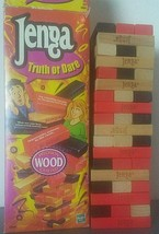 Jenga Truth or Dare Precision Wood Crafted Adult Party Game Complete Has... - $16.78