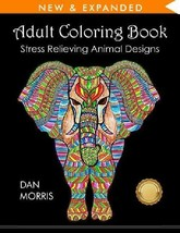 Adult Coloring Book: Stress Relieving Animal Designs - $6.92