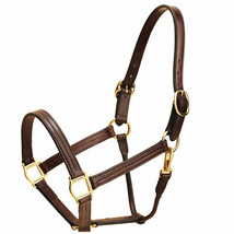 """COB 1"""" TORY LEATHER TRIPLE STITCHED HALTER ROLLED SNAP THROAT FIXED  HAV... - $84.99"""