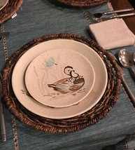 RED WING POTTERY BOB WHITE Blue Quail Bird Salad Plates EXCELLENT #130 - $17.41
