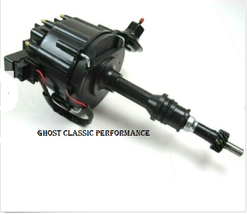 Ford Sbf 289 302W Hei Distributor 65k Coil Aluminum Rtr All Black Sharp! - $62.12