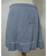 FREE PEOPLE Skirt 100% Rayon Blue & White Gingham Flared India S - $80.99