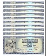 Yugoslavia 50 Dinara X 10 Pieces PCS, Banknotes 1968, P-83c, UNC - Histo... - $48.38