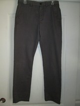 Nordstrom MENS SHOP Straight Fit Pants Dark Brown 32Wx32L (Labeled 30W 3... - $26.59